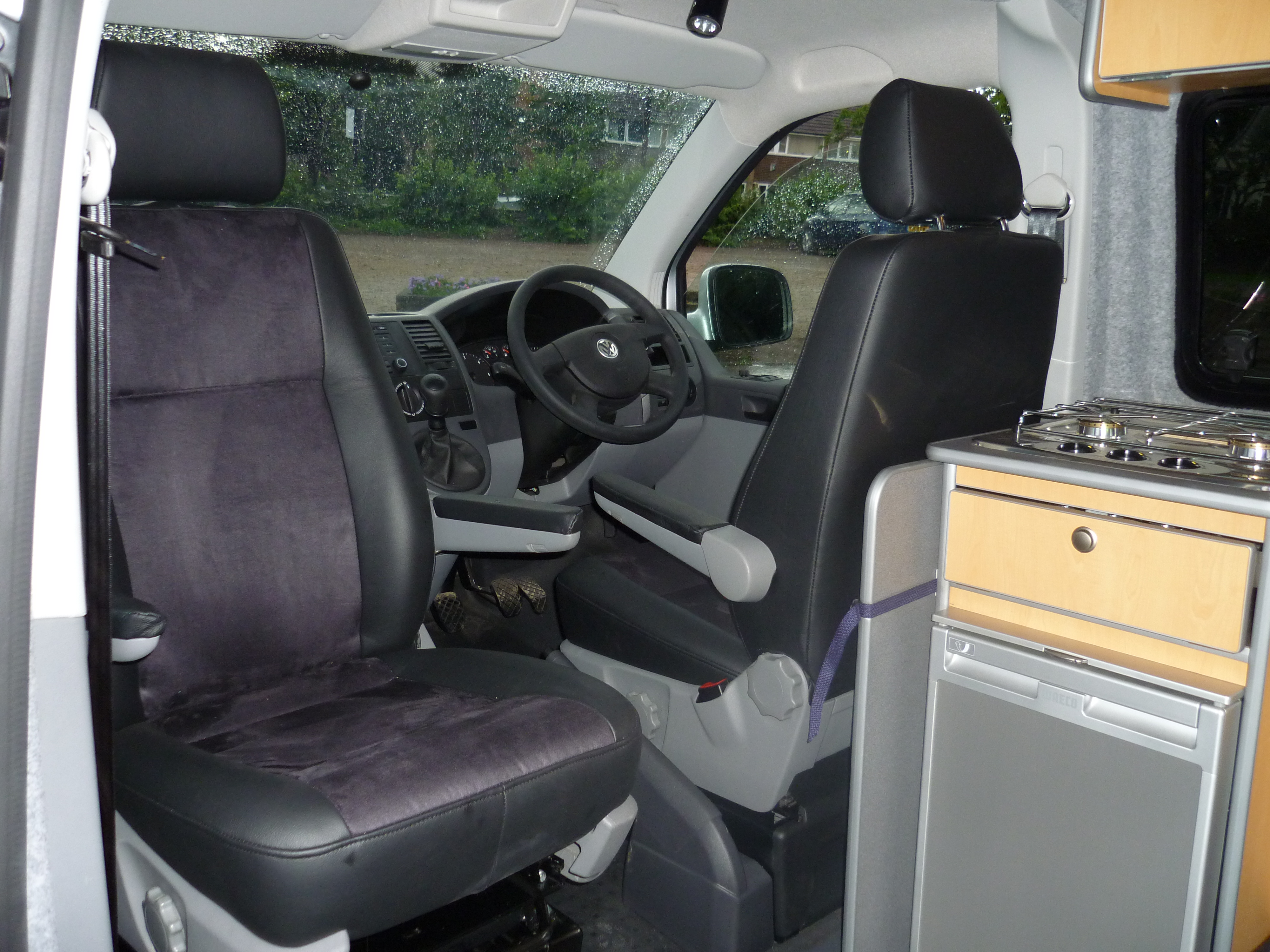 Captain Seats In A VW T5 Campervan Conversion Are Fantastic Addition To The Van And Make Your Camper Experience Far More Enjoyable